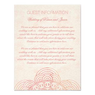 Cartão Informação chique do convidado do casamento de