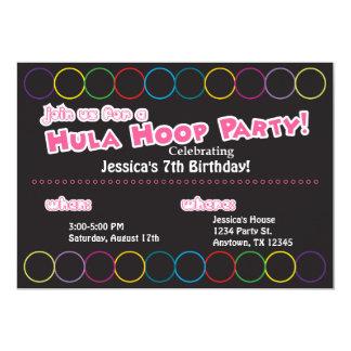 Cartão Informação da festa de aniversário da aro de Hula