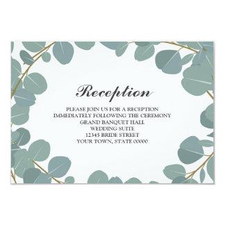 Cartão Informação da recepção de casamento das hortaliças