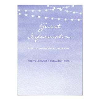Cartão Informação do convidado de Stringlights da