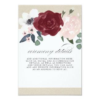 Cartão Informação floral romântica