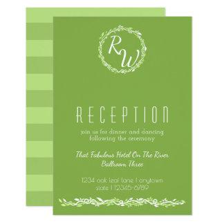 Cartão Informação Wedding rústica da recepção da videira