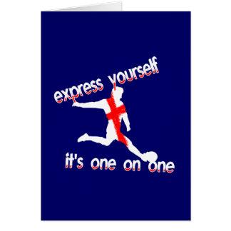 Cartão Inglaterra expressa você mesmo