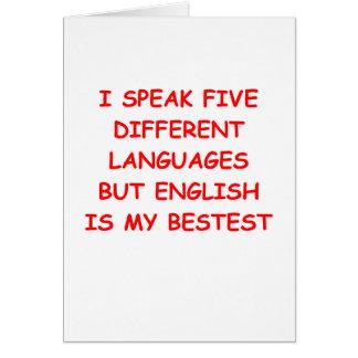 Cartão inglês