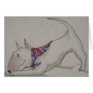 Cartão Inglês bull terrier - casa bem-vinda