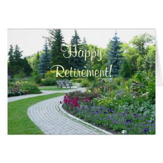 Cartão inglês da aposentadoria do jardim