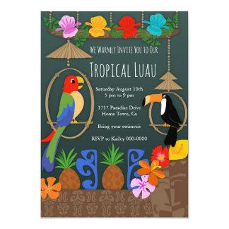 Cartão Iniciação tropical do partido de Tiki
