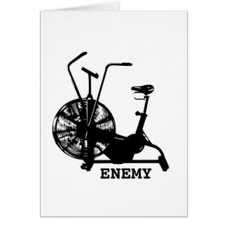 Cartão Inimigo da bicicleta do ar