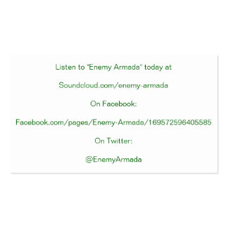 Cartão inimigo da promoção da armada cartão de visita