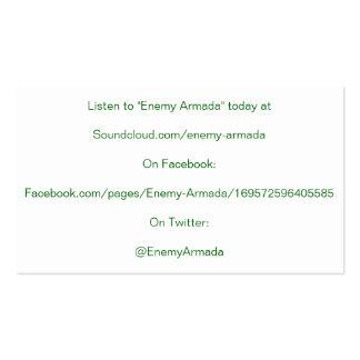 Cartão inimigo da promoção da armada cartao de visita
