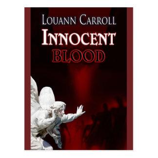 Cartão inocente do desenhista do sangue