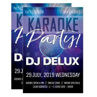 Cartão Insecto do clube do partido | DJ | do karaoke