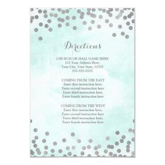 Cartão Inserção azul do sentido do casamento de prata da