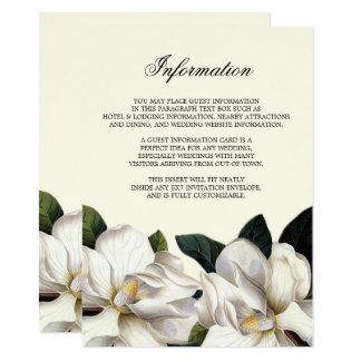 Cartão Inserção botânica do sul da informação do