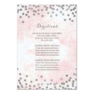 Cartão Inserção cor-de-rosa do sentido do casamento de