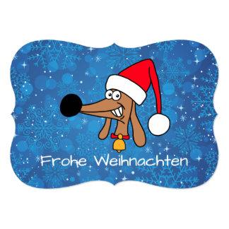 Cartão insolente do Dachshund do Feliz Natal