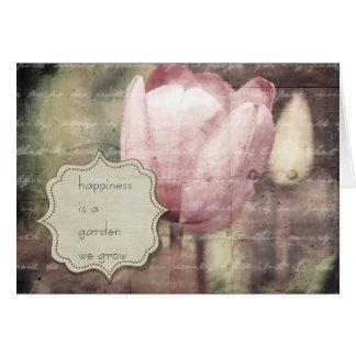 Cartão Inspiração cor-de-rosa da tulipa