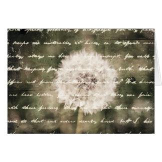 Cartão Inspiração do desejo