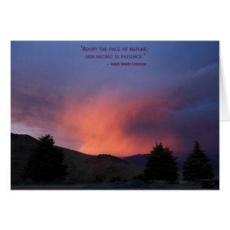 Cartão inspirado: A natureza é paciente