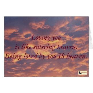 Cartão inspirado - amor