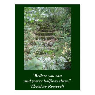 Cartão inspirado. Citações por Roosevelt