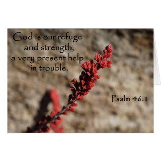 Cartão inspirado da ajuda da urze para a esperança