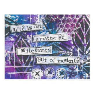 Cartão inspirado da arte dos meios mistos das