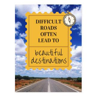 Cartão inspirado da divisa da vida