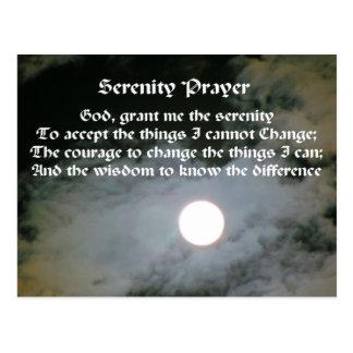 Cartão inspirado da Lua cheia da oração da