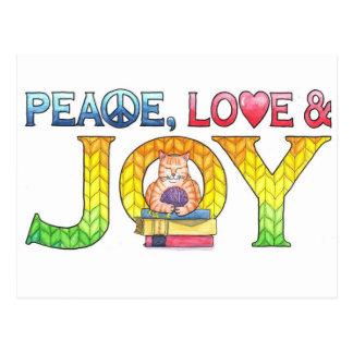 Cartão inspirado da paz, do amor & da alegria