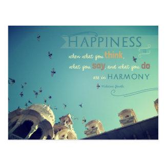 """Cartão inspirado das citações da """"felicidade"""" -"""
