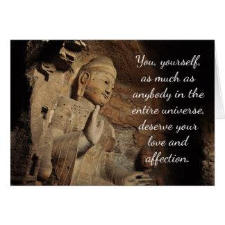 Cartão inspirado das citações de Buddha