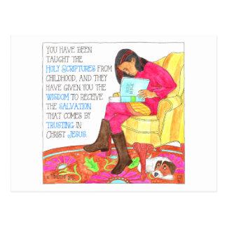 Cartão inspirado das escrituras cartão postal