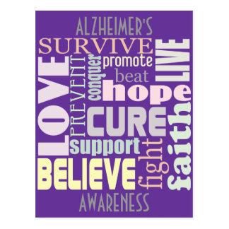 Cartão inspirado das palavras de Alzheimer