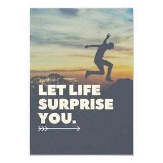 Cartão Inspirado deixe a surpresa que da vida você