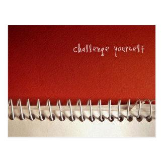 Cartão inspirado: Desafio você mesmo
