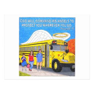 Cartão inspirado do anjo do ônibus
