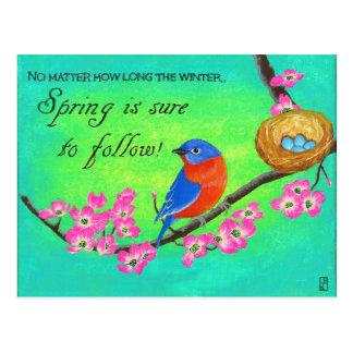 Cartão inspirado do Bluebird