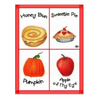 Cartão inspirado do bolo de mel
