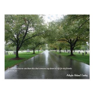 Cartão inspirado do cemitério nacional de