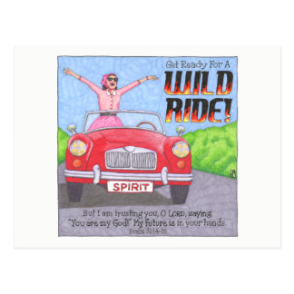 Cartão inspirado do passeio selvagem