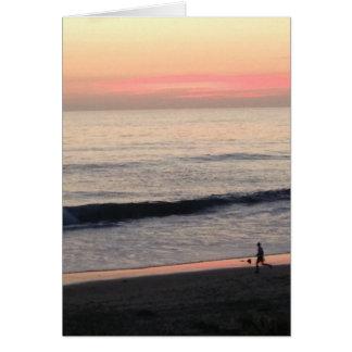 Cartão inspirado do por do sol