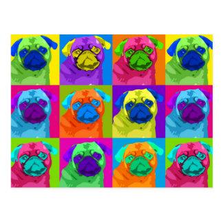cartão inspirado do Pug