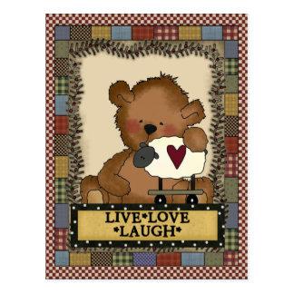 Cartão inspirado do urso dos desenhos animados