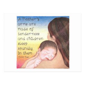 Cartão inspirado dos braços de uma mãe