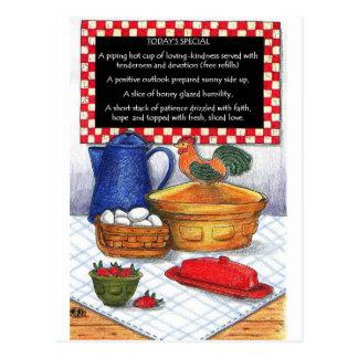 Cartão inspirado especial do pequeno almoço