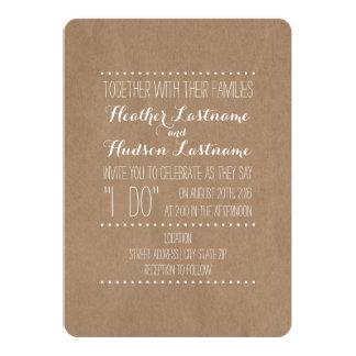 """Cartão inspirado """"eu faço"""" casamento convite 12.7 x 17.78cm"""