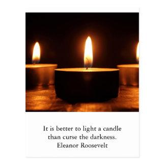 Cartão inspirado: luz na escuridão