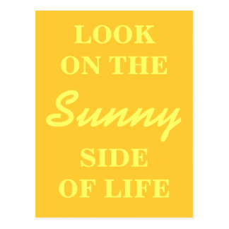 Cartão inspirado - olhe no lado ensolarado