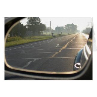 Cartão inspirador da estrada do Lit de Sun
